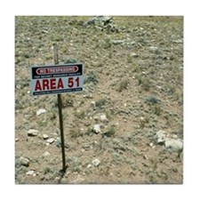 Area 51 UFO site Tile Coaster