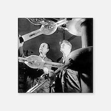 """Frank and Cherenkov, Soviet Square Sticker 3"""" x 3"""""""