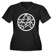 Sigil of the Women's Plus Size Dark V-Neck T-Shirt