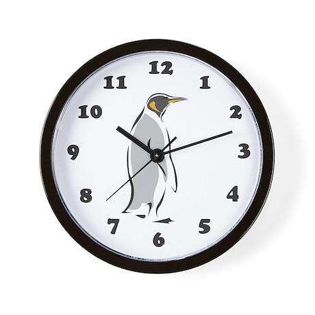 Penguin Wall Clock: Gray Penguin