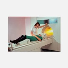 A patient is prepared for a MRI b Rectangle Magnet
