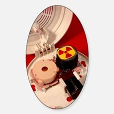 Smoke alarm components Sticker (Oval)