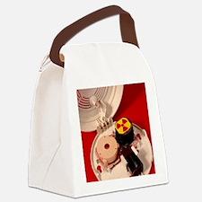 Smoke alarm components Canvas Lunch Bag