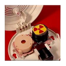 Smoke alarm components Tile Coaster