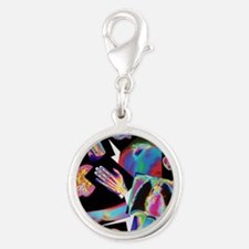 Assortment of coloured X-rays  Silver Round Charm