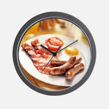 Fried breakfast Wall Clock