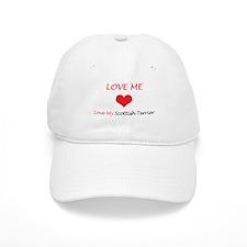 Love Me Love My Scottish Terr Baseball Cap