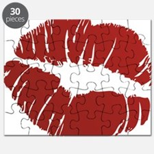 Red lip Kiss Puzzle