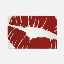Red lip Kiss Rectangle Magnet