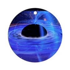 Energy-releasing black hole Round Ornament