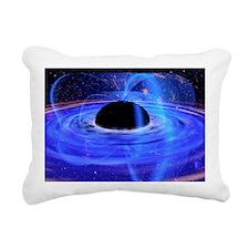 Energy-releasing black h Rectangular Canvas Pillow