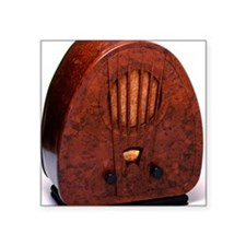 "Bakelite radio Square Sticker 3"" x 3"""