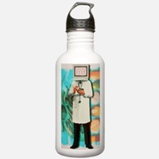 Abstract computer artw Water Bottle