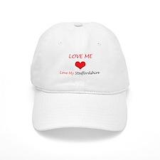 Love Me Love My Staffordshire Baseball Cap
