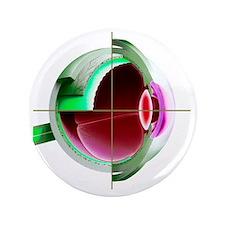 """Human eye 3.5"""" Button"""