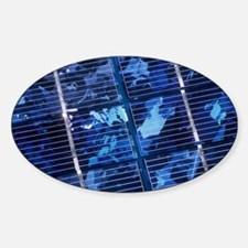 Solar cells Sticker (Oval)