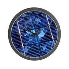 Solar cells Wall Clock