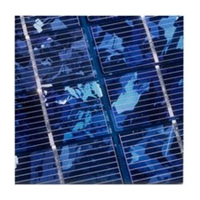 Solar cells Tile Coaster