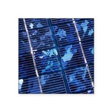 """Solar cells Square Sticker 3"""" x 3"""""""