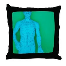 Acupuncture model Throw Pillow