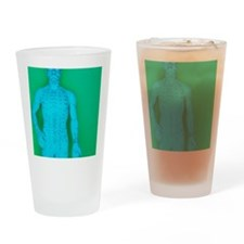 Acupuncture model Drinking Glass