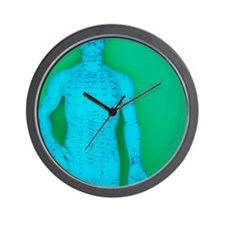 Acupuncture model Wall Clock