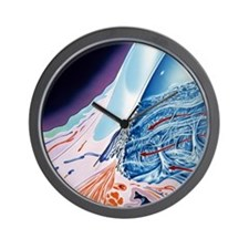 Eye anatomy, artwork Wall Clock