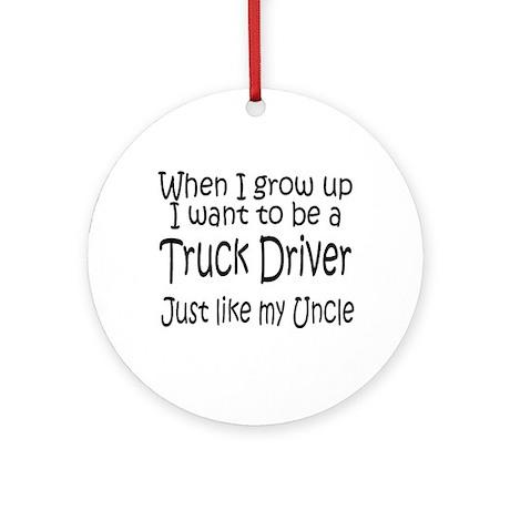 WIGU Trucker Uncle Ornament (Round)
