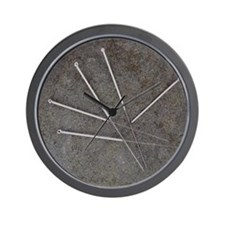 Acupuncture needles Wall Clock