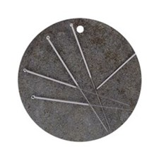 Acupuncture needles Round Ornament