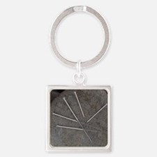 Acupuncture needles Square Keychain