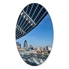 Solar panels on City Hall, UK Decal