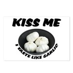 Kiss Me Garlic Postcards (Package of 8)