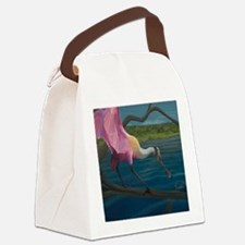 Swagger - Roseate Spoonbill Over  Canvas Lunch Bag