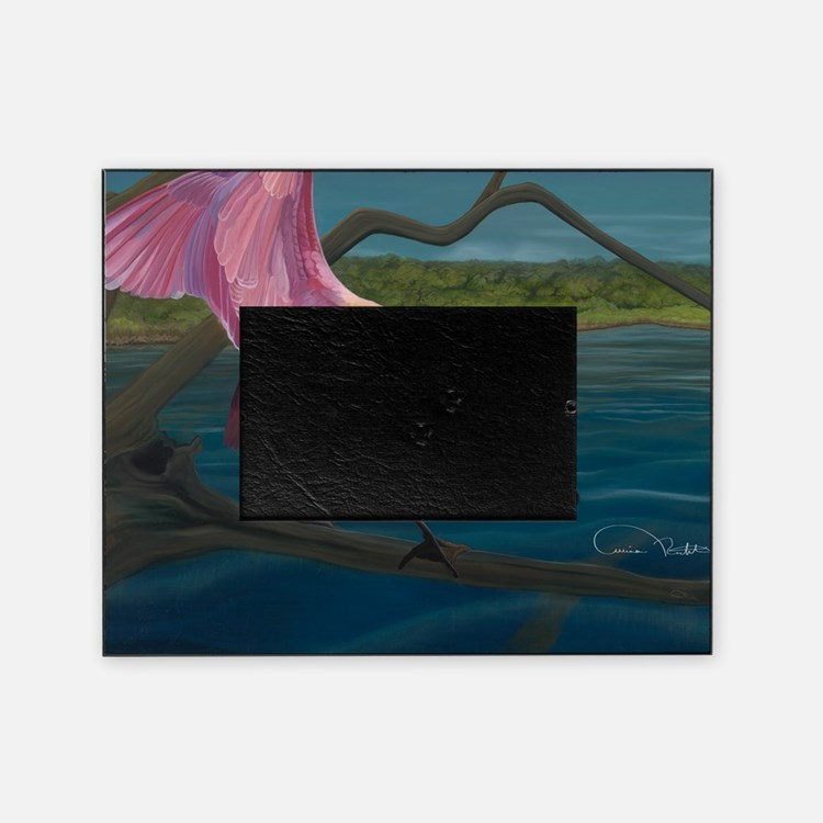 Swagger - Roseate Spoonbill Over Wat Picture Frame