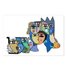Cuban Street Art Ojos Postcards (Package of 8)