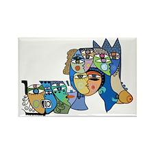 Cuban Street Art Ojos Rectangle Magnet