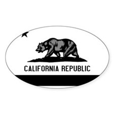 California Flag Black and Grey Decal