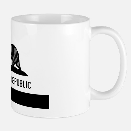 California Flag Black and Grey Mug