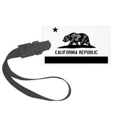 California Flag Black and Grey Luggage Tag