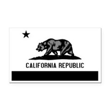 California Flag Black and Gre Rectangle Car Magnet