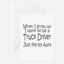 WIGU Trucker Aunt Greeting Cards (Pk of 10)