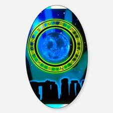 Abstract artwork of fortune telling Sticker (Oval)