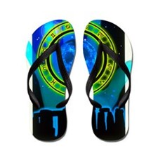 Abstract artwork of fortune telling Flip Flops