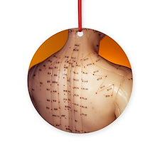 Acupuncture model Round Ornament