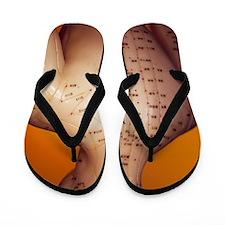 Acupuncture model Flip Flops
