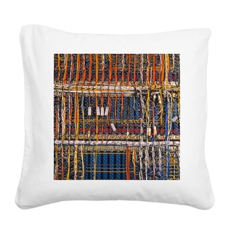 Heathkit computer wires Square Canvas Pillow