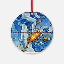 Historical artwork of the constella Round Ornament