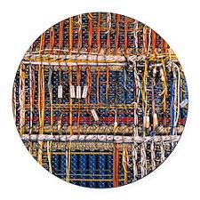 Heathkit computer wires Round Car Magnet