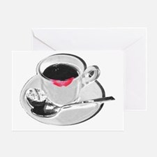 Coffee Lipstick Greeting Card
